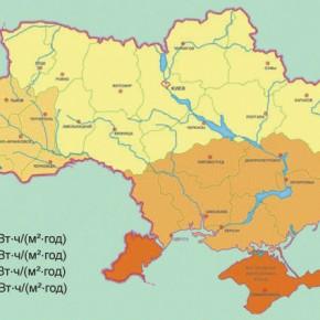 Солнечное излучение в Украине