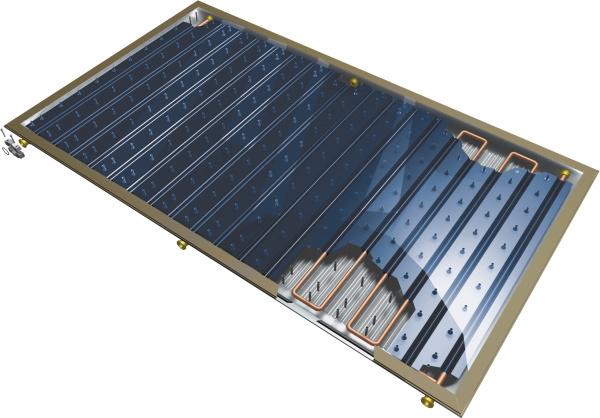 Солнечный вакуумный плоский коллектор