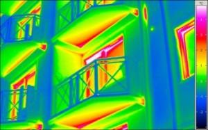 мостики холода в инфракрасном снимке