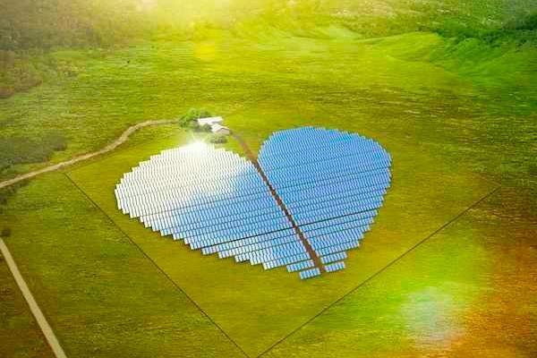 Солнечная электростанция в виде сердца
