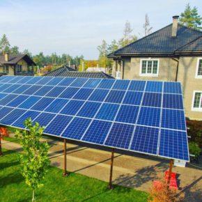 В 2017 солнечные электростанции установило вдвое больше частных домохозяйств, чем в 2016 году